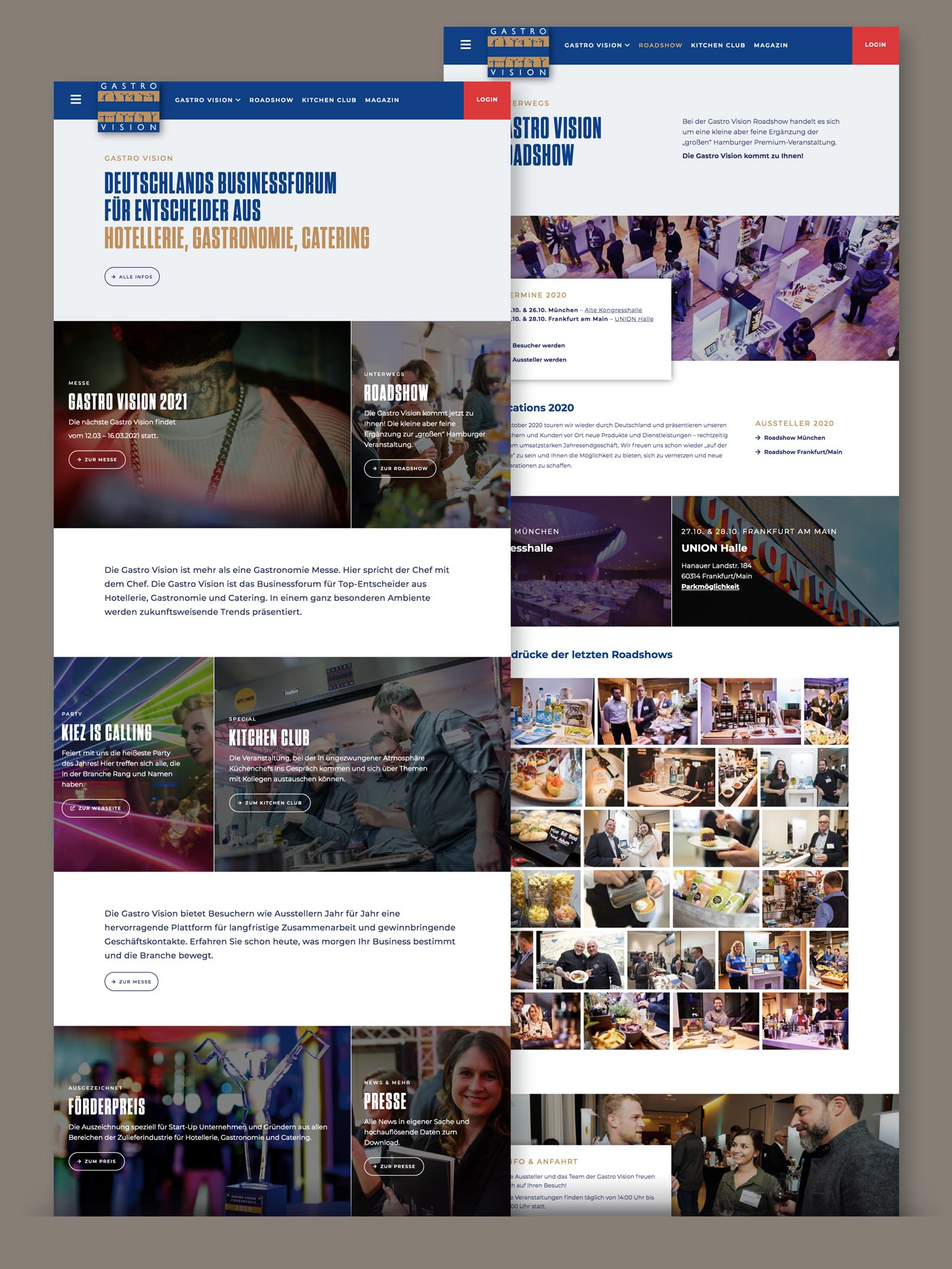 Responsive Webdesign Hamburg Gastronomie Messe Gastro Vision