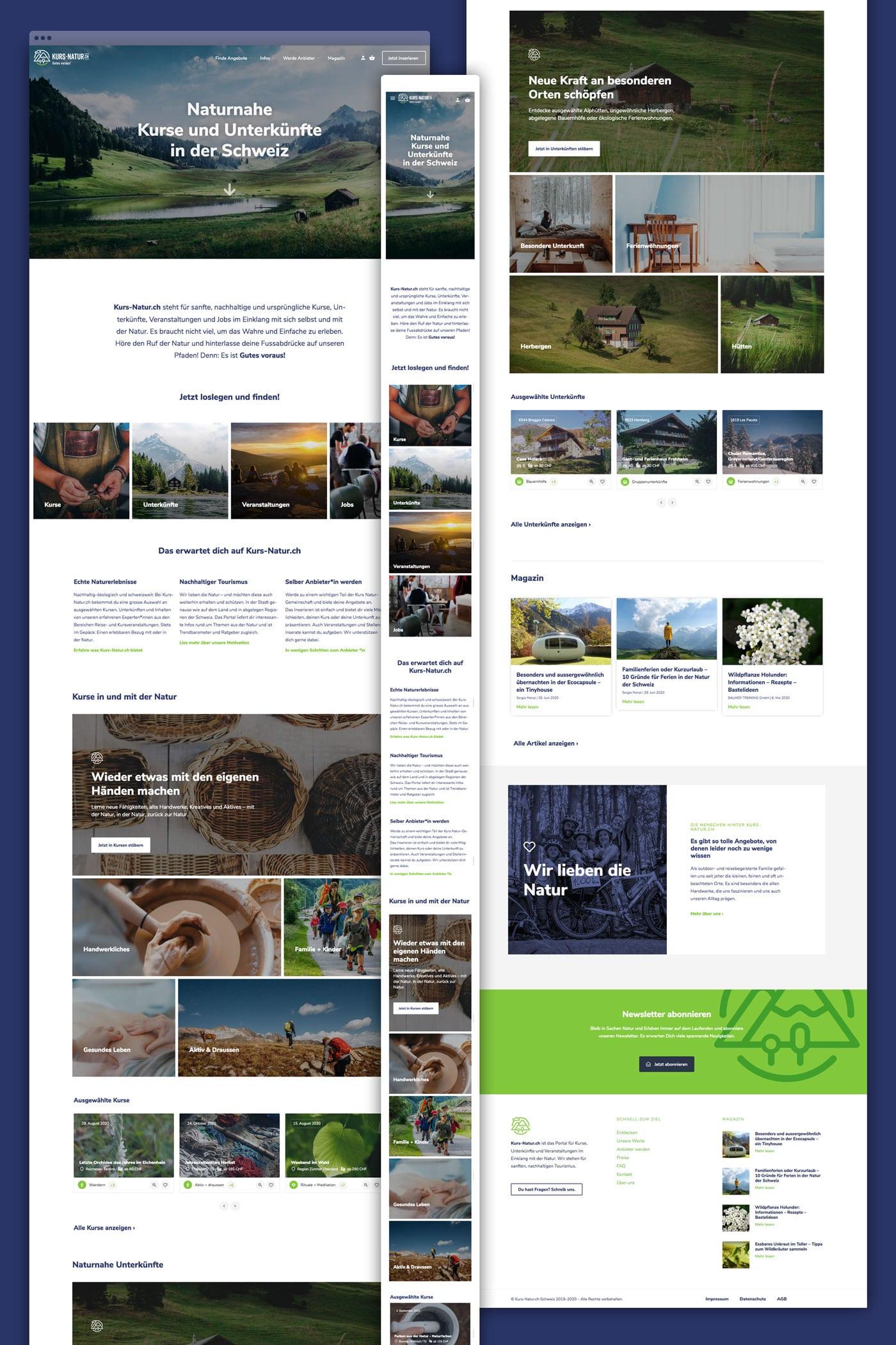 Webportal Webseite WordPress Kurs Natur Schweiz