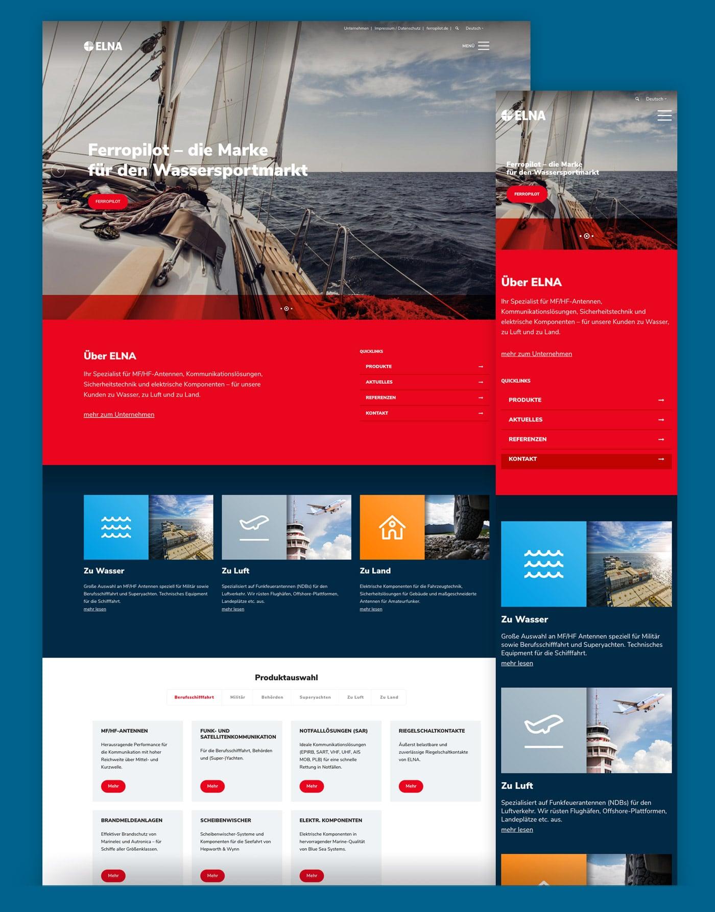 Wordpress Webseite ELNA