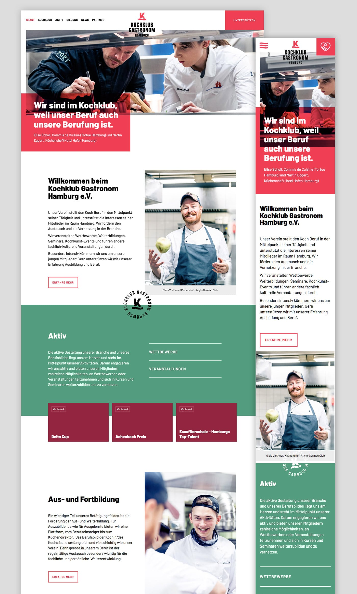 Responsive WordPress Webseite Gastronomie Restaurant