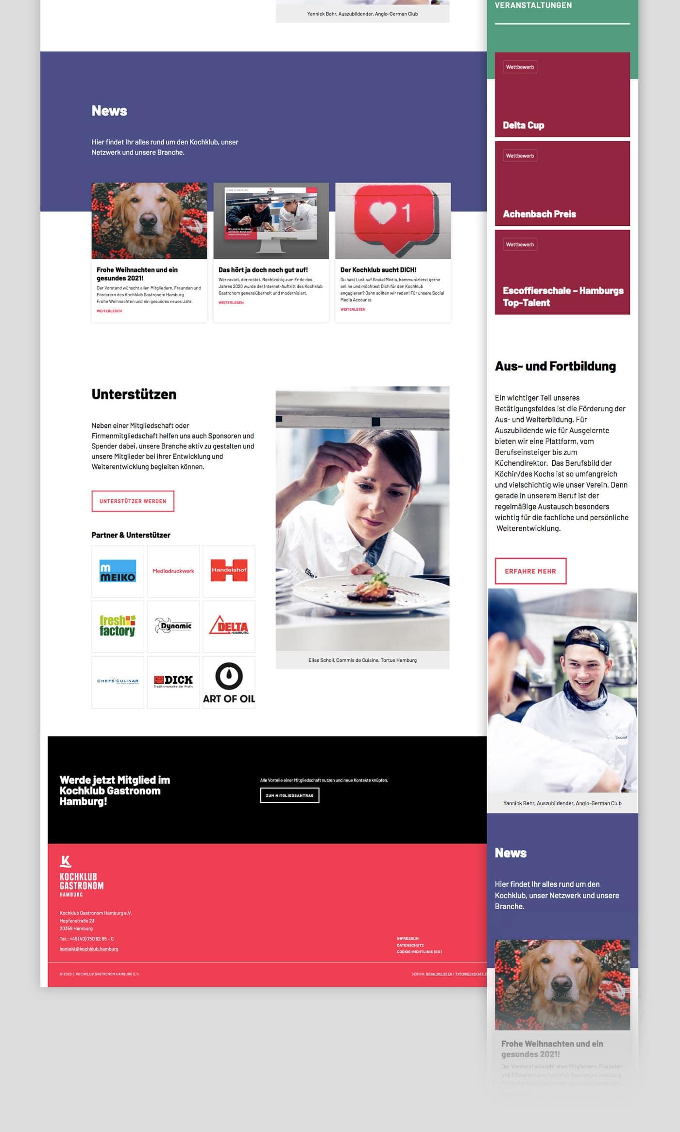 Wordpress Webseite Gastronomie Restaurant Hamburg