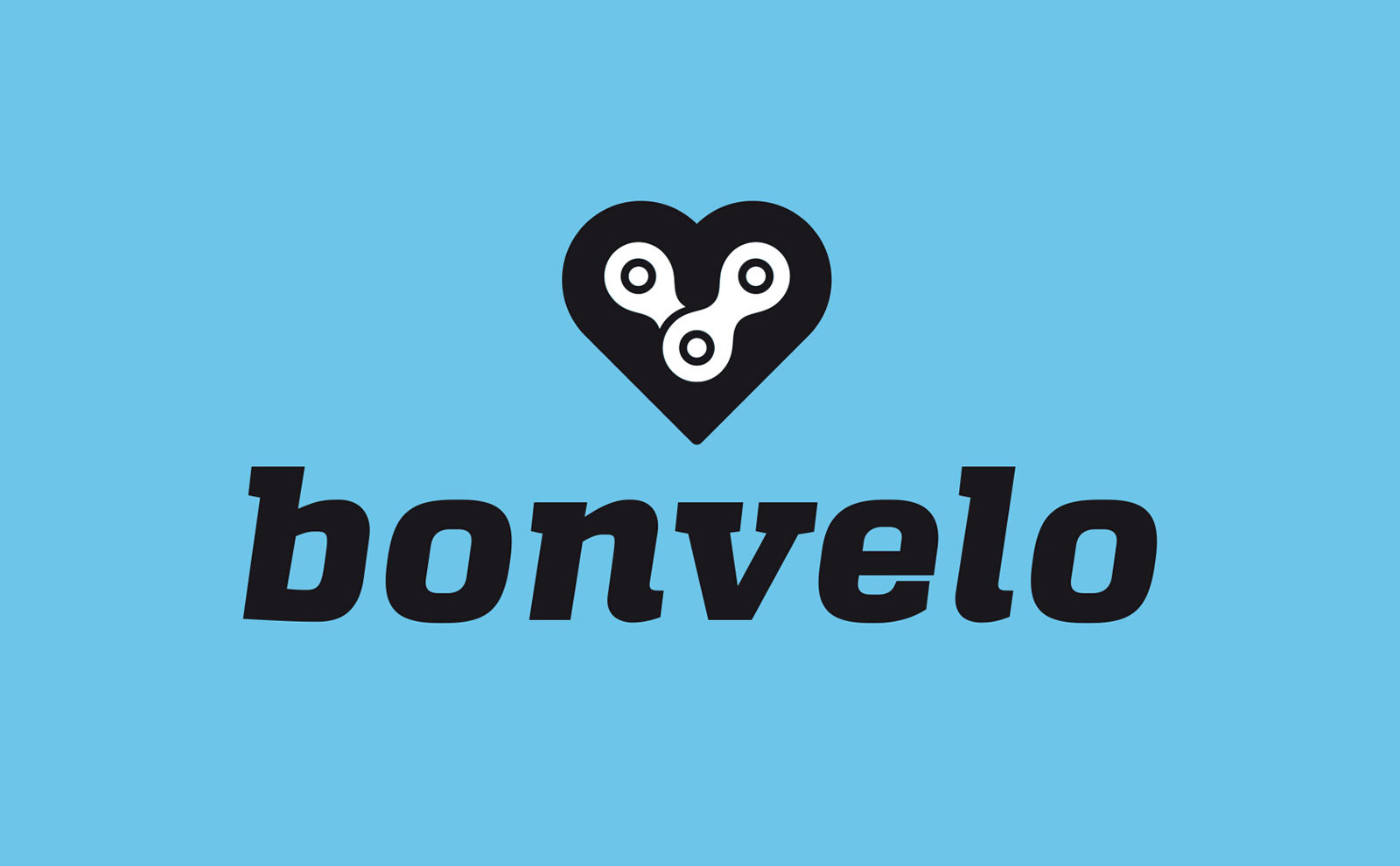 Logo Corporate Design bonvelo Fahrradmarke