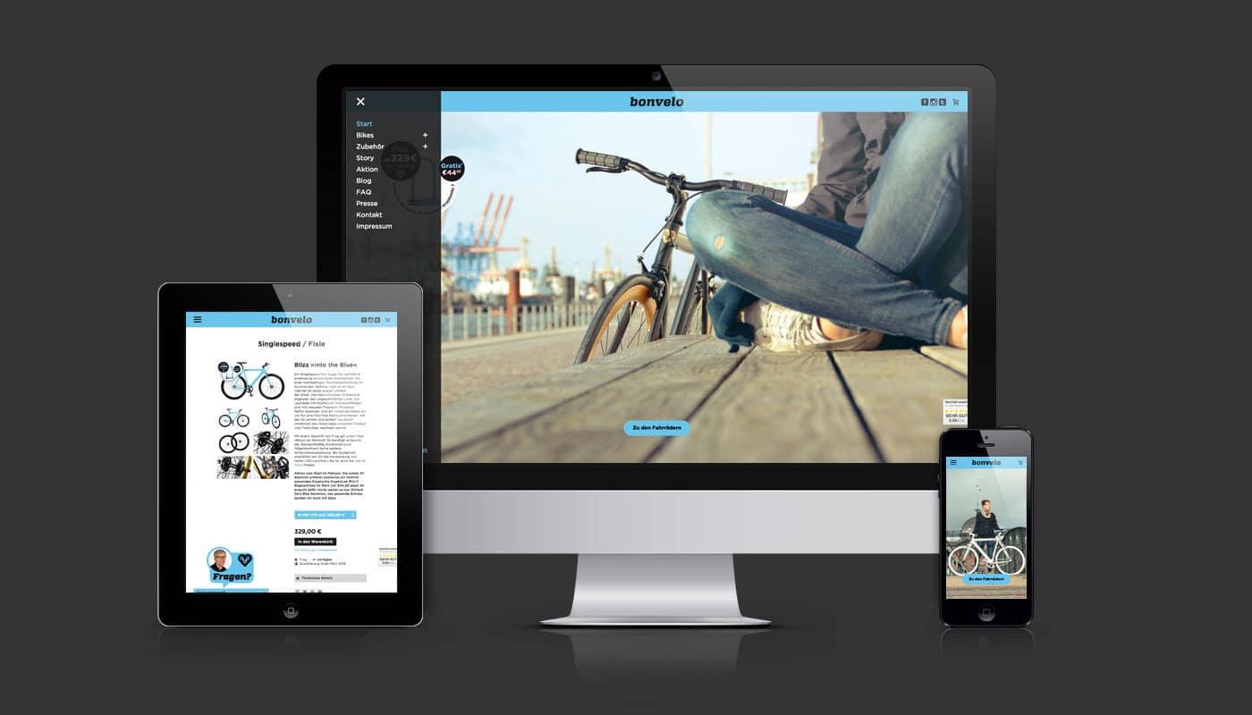 Online-Shop Design bonvelo